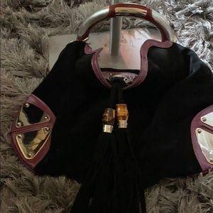 Black and purple Gucci bag